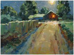 Tom Brown oil painting