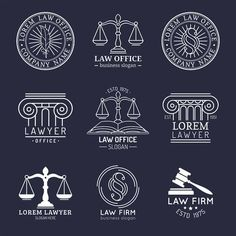 Theres no law that says law firm logos must include the iconic scales of justice As an attorney you must object to overused legal logo designs Lawyer Logo, Lawyer Business Card, Business Slogans, Logo Design, Letterhead Design, Web Design, Logos, Logo Branding, Logo Google
