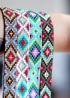 Native Inspired Beaded Headband by UnderThoseNeonLights on Etsy, $45.00