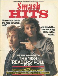 Magazine - 1984-12-20 Eurythmics - UK - Smash Hits - http://www.eurythmics-ultimate.com/magazine-1984-12-20-eurythmics-uk-smash-hits/ Roger Taylor, John Taylor, Julian Lennon, Love Songs Lyrics, Music Magazines, Nick Rhodes, Simon Le Bon, 80s Music, Rock Music