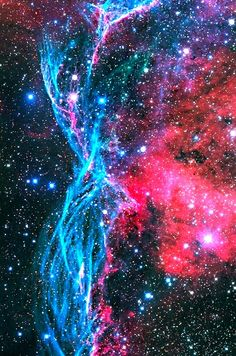 A small part of the huge Vela Supernova Remnant complex