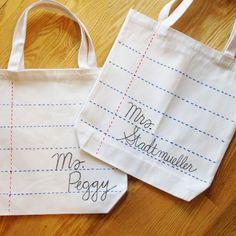 DIY - Tote bag pour la maîtresse
