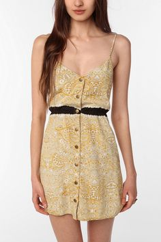 UrbanOutfitters.com > COPE Crepe Snap-Front Dress