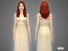 The Sims Resource: Mona – gown by April • Sims 4 Downloads