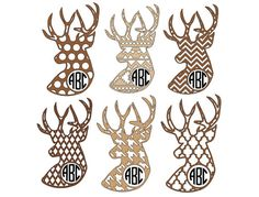 Deer Monogram Stickers  Vinyl monogram by VivaVinylStickers