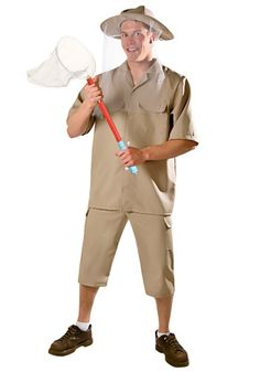 Drive everyone buggy when you're dressed in this bug catcher costume. The funny costume is great for catching insects or catching laughs at your next Halloween party.