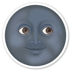 New Moon with Face Emoji Sticker ~ IF YOU LOVE ME YOU WILL BUY ME THIS ~