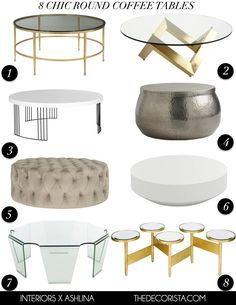 Mes choix: 8 tables basses rondes chics My picks: 8 chic round coffee tables — The Decorista - Interior Decoration Accessories coffee tables Coffee Table Desk, Unique Coffee Table, Contemporary Coffee Table, Round Coffee Table, Modern Coffee Tables, Table Haute, Decorating Coffee Tables, Apartment Interior, Cheap Home Decor