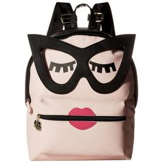 Luv Betsey Smarty Kitch PVC Backpack (Blush) Backpack Bags (2,115 INR) ❤ liked on Polyvore featuring bags, backpacks, pink, shoulder strap backpack, pvc zipper bag, pink backpack, backpack bags and shoulder strap bags
