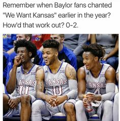This is especially funny since we just beat Baylor again at Allen Fieldhouse, Kansas Basketball, Basketball Teams, Go Ku, U Rock, University Of Kansas, Kansas Jayhawks, March Madness, Coaching, Workout