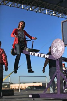 Scentsy President, Heidi Thompson, on the Teeter-Totter www.scentsy.com/asalyers