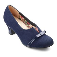 979d192e1f59 Smart ladies heel Antoinette in new colour Navy. Add a touch of glamour to  your footwear collection with this beautiful heel with stunning bow detail  and ...