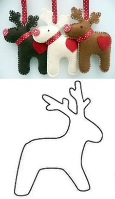 deco de noel en feutrine - SAVING TIP – Kreation, Recycling: Weihnachten - Felt Christmas Decorations, Christmas Tree Crafts, Felt Christmas Ornaments, Christmas Sewing, Noel Christmas, Christmas Projects, Holiday Crafts, Handmade Decorations, Fabric Ornaments