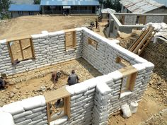 Building Hope for the Women of Nepal - TruexCullins Architecture + Interior Design Masonry Construction, Earth Bag Homes, Earthship Home, Eco Buildings, Tropical Backyard, Adobe House, Natural Building, Green Building, Sustainable Architecture