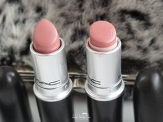 MAC Modesty Lipstick Review, Swatches modesty and patisserie