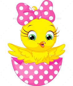 Buy Chicken by Platinka on GraphicRiver. Image cartoon chicken in an egg, EPS JPG (high resolution) Cartoon Clip, Cute Cartoon, Chicken Vector, Rabbit Vector, Cartoon Chicken, Baby Chickens, Fabric Painting, Easter Crafts, Cute Drawings