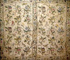 Embroidered Silk Satin Portfolio or Book Cover  British, ca. 1600