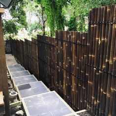 Discover an eco-friendly options for backyard privacy with the top 50 best bamboo fence ideas. Garden Privacy, Backyard Privacy, Backyard Landscaping, Modern Landscaping, Cerca Natural, Bamboo Panels, Bamboo Fence, Bamboo Fencing Ideas, Bamboo Garden Ideas