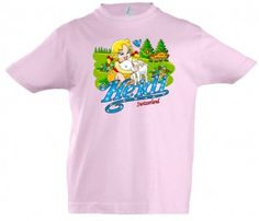 Mädchen T-Shirt Heidi, rosa / Girls T-shirt Heidi, pink / Perhaps you can remember the children's fairy tales Heidi, which is with the children still popular today. A t-shirt with a unique imprint.