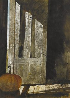 Andrew Newell Wyeth (1917 — 2009, USA) Back Entry. 1971 watercolor on paper. 30 x 22 in.