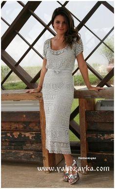Платье Ангел от Giovana Dias. Красивые платья крючком со схемами. | Я Хозяйка
