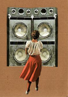 'Bass Syrup' Collage by Maya Mitten www.mayamitten.com