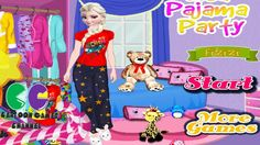 Elsa Pajama Party  http://playfrozengames.com/frozen-games/elsa-pajama-party