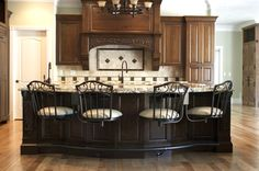 Great Kitchen with Tempo's Cortez chairs.  You and your guests would want to linger longer in this warm setting!