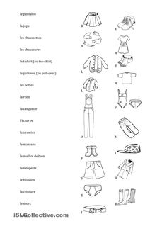 1000 images about v tements on pinterest french clothing fle and vocabulary. Black Bedroom Furniture Sets. Home Design Ideas