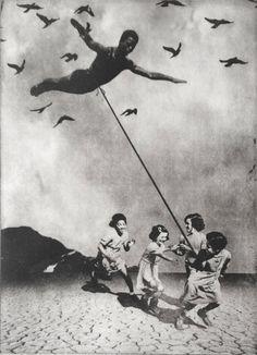Jaco Putker (Dutch, b. The Hague, Netherlands) - The Girls And The Diver, 2013 Printmaking: Aquatint on Paper