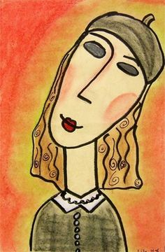 "From exhibit ""Modigliani-Inspired Portraits -4"" by lily208"
