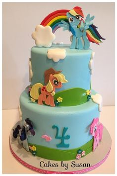 My Little Pony  - Cake by Skmaestas