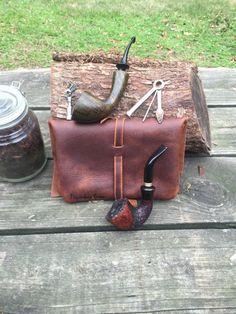 Легендарный саксонской Премиум Плотная кожа табака трубы мешок