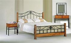 Kovová postel s příslušenstvím za atraktivní cenu! - rozměry: 160 x 200 cm Welded Furniture, Iron Furniture, Steel Furniture, Bedroom Furniture, Furniture Design, Steel Bed Design, Small Bedroom Ideas For Couples, Wrought Iron Beds, Steel Bed Frame