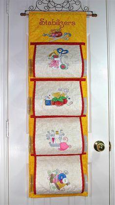 stabilizer+organizer | Mylar Swirly Sewing Stabilizer Organizer | Purely Gates Embroidery
