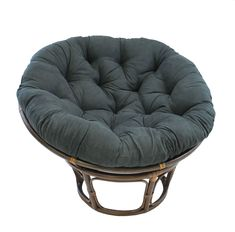 online shopping for Blazing Needles Solid Microsuede Papasan Chair Cushion, 48 x 6 x 48 , Indigo from top store. See new offer for Blazing Needles Solid Microsuede Papasan Chair Cushion, 48 x 6 x 48 , Indigo Papasan Cushion, Papasan Chair, Cushion Fabric, Egg Chair, Swivel Chair, Indoor Chair Cushions, Cushions On Sofa, Cushions Online, Round Chair
