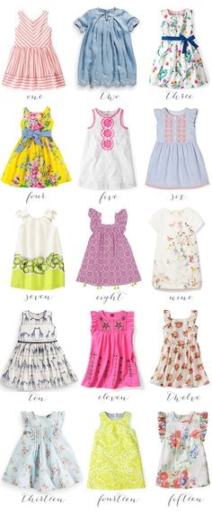 fifteen spring dresses for girls!