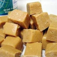 ABBY'S PEANUT BUTTER FUDGE -- SHE MADE IT TODAY WITH OUR HOMEMADE SWEETENED CONDENSED MILK, IT WAS LOVELY!