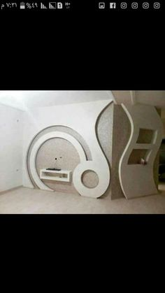 Tv Cabinet Design, Tv Unit Design, Tv Wall Design, House Design, Gypsum Ceiling Design, Bedroom False Ceiling Design, Plafond Staff, Living Room Wall Units, Plafond Design