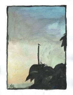 "Saatchi Art Artist Esa Myllyla; Painting, ""Lonely Bird"" #art"