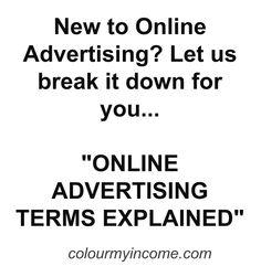 Online Advertising, Online Business, Let It Be, Colour, Color, Colors