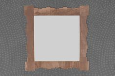 Copper Segmental Square Mirror