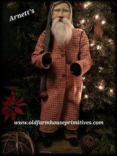 Old Farmhouse Primitives Primitive Country & Colonial Home Decor Cowboy Christmas, Christmas Sewing, Christmas Fabric, Primitive Christmas, Father Christmas, Country Christmas, Christmas Projects, Christmas Meme, Christmas Christmas