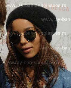 Ray Ban round metal sunglasses, Zoey Kravitz