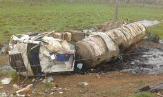 De Cara  Com a Verdade : G. Dias MA, o seu diário de notícias.: Carreta capota na BR-135 em Capinzal do Norte-MA  ...