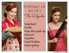 The sweet ISFJ is also a staunch defender of the people she is close to. So true. Isfj Personality, Personality Profile, Myers Briggs Personality Types, Infp, Myers Briggs Personalities, 16 Personalities, Desperate Housewives, Bree Van De Kamp, Nerd