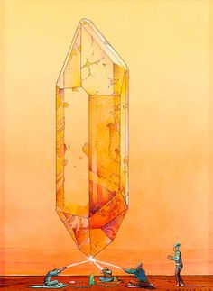 View Cristal Saga by Jean Giraud on artnet. Browse upcoming and past auction lots by Jean Giraud. Arte Sci Fi, Sci Fi Art, Jean Giraud, Art Science Fiction, Comic Art, Comic Books, Ligne Claire, Illustration Art, Illustrations