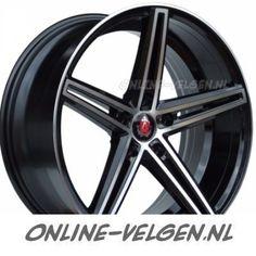 AXE EX14 Zwart Gepolijst velg   Online-Velgen.nl