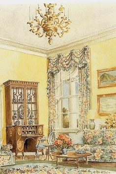 Mark Hampton: The White House' sitting room designed for the former First Lady Barbra Bush