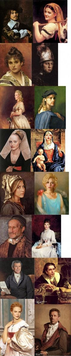 Modern Hollywood actors, Rennaisance style